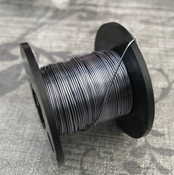 Smoked Grey Coloured Copper Wire 0.5mm