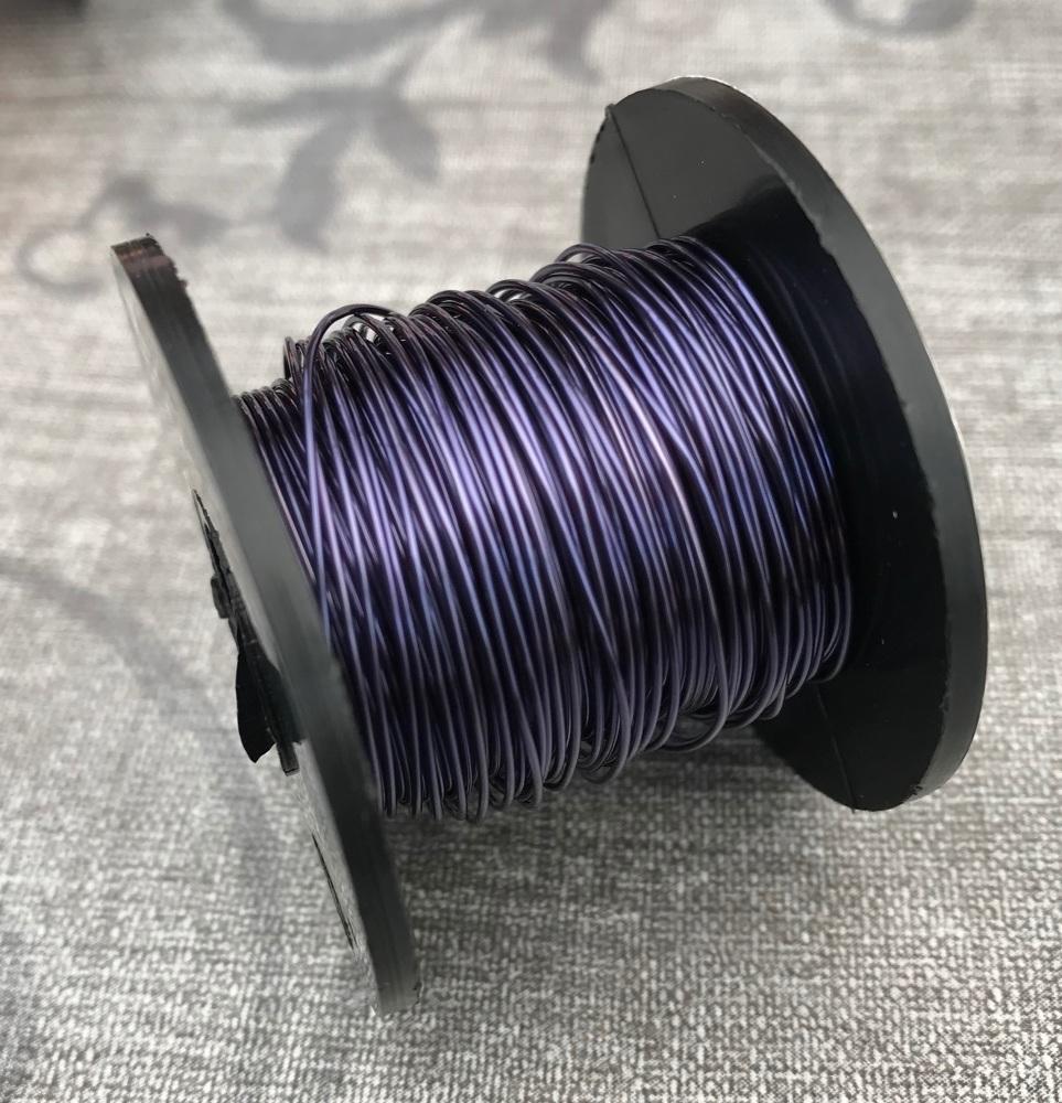 Dark Blue Copper Coloured Wire 0.5mm