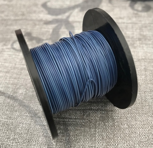 Opaque Blue Copper coloured Wire 0.5mm 25m Reel