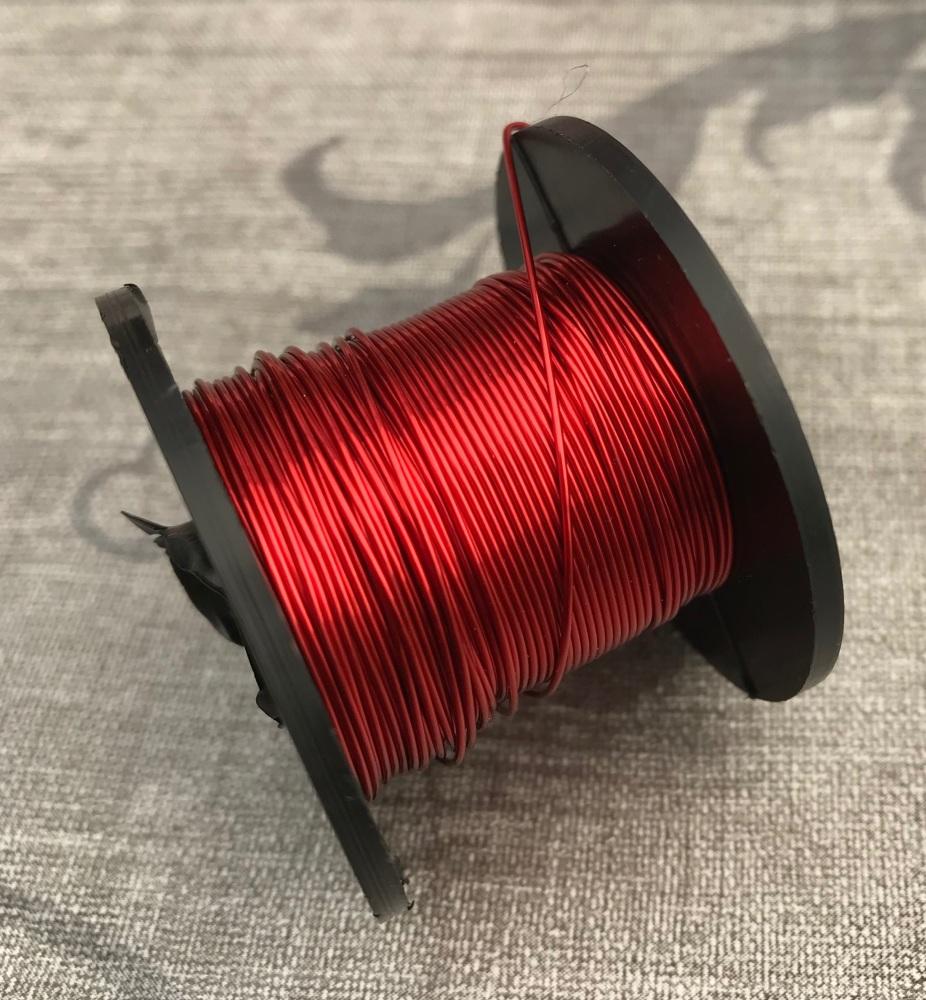 Vivid Red Coloured Copper Wire 0.5mm