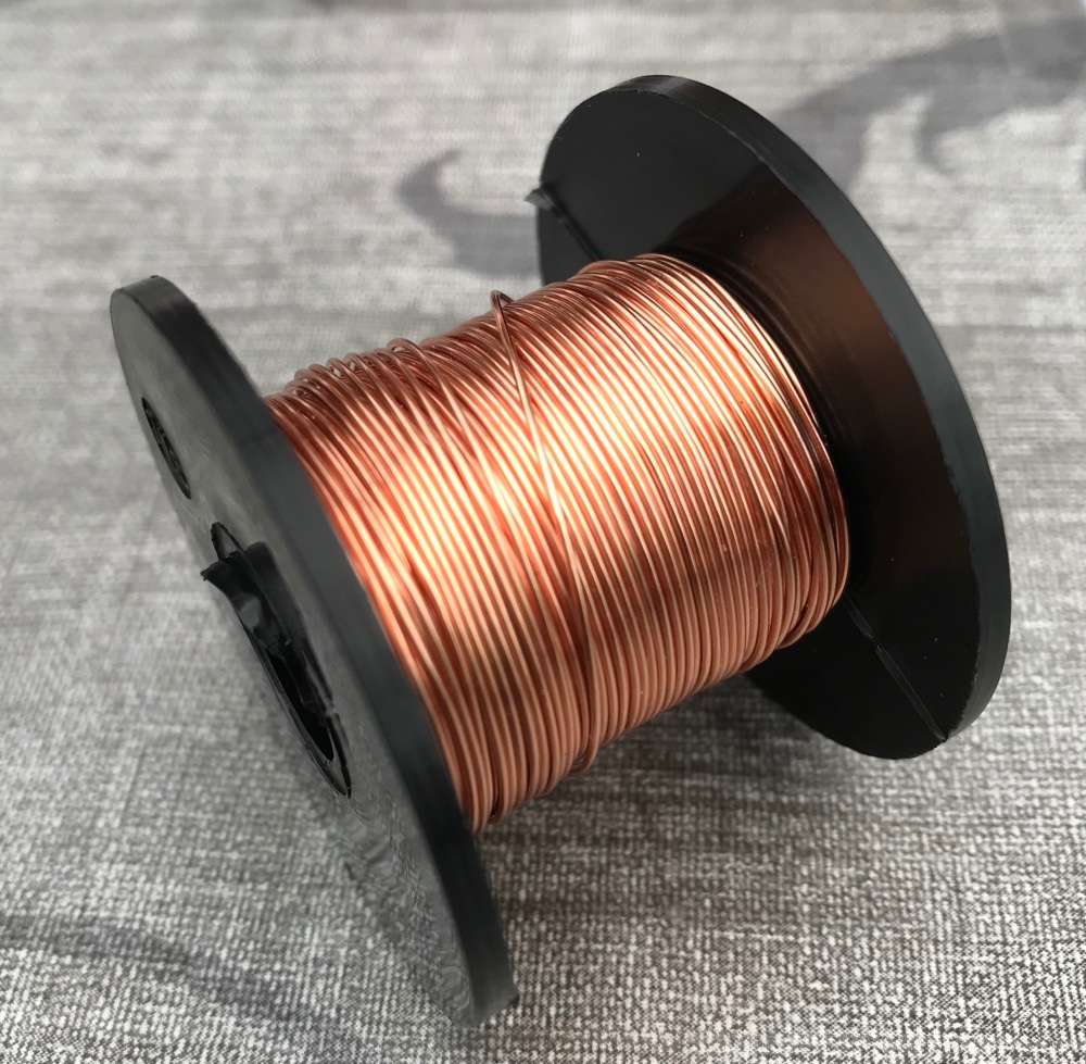 Warm Gold Copper Coloured Wire 0.5mm 25m Reel