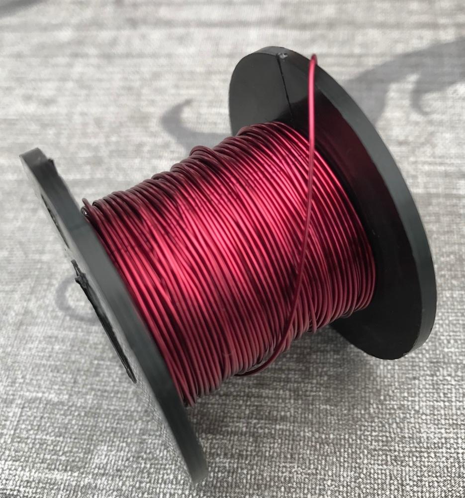 Wine Coloured Copper Wire 0.5mm
