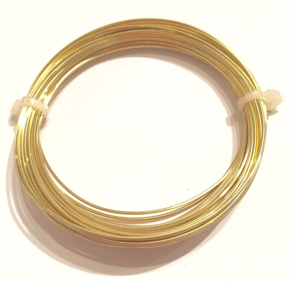 0.8mm Champagne Gold Square Jewellery Wire
