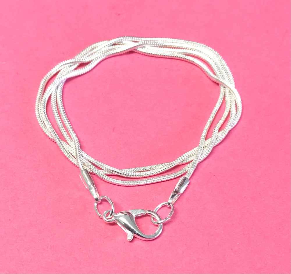 """Snake Chain Silver Plated 16"""""""