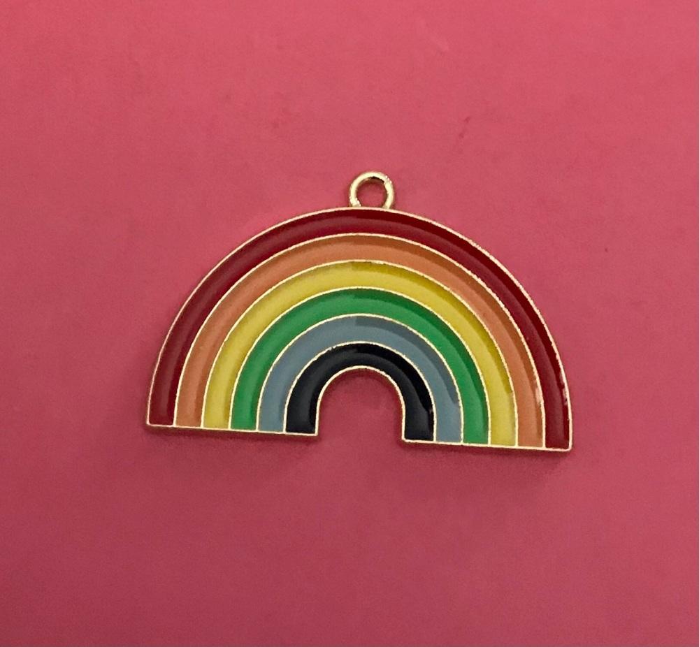Rainbow Charm Large Enamel
