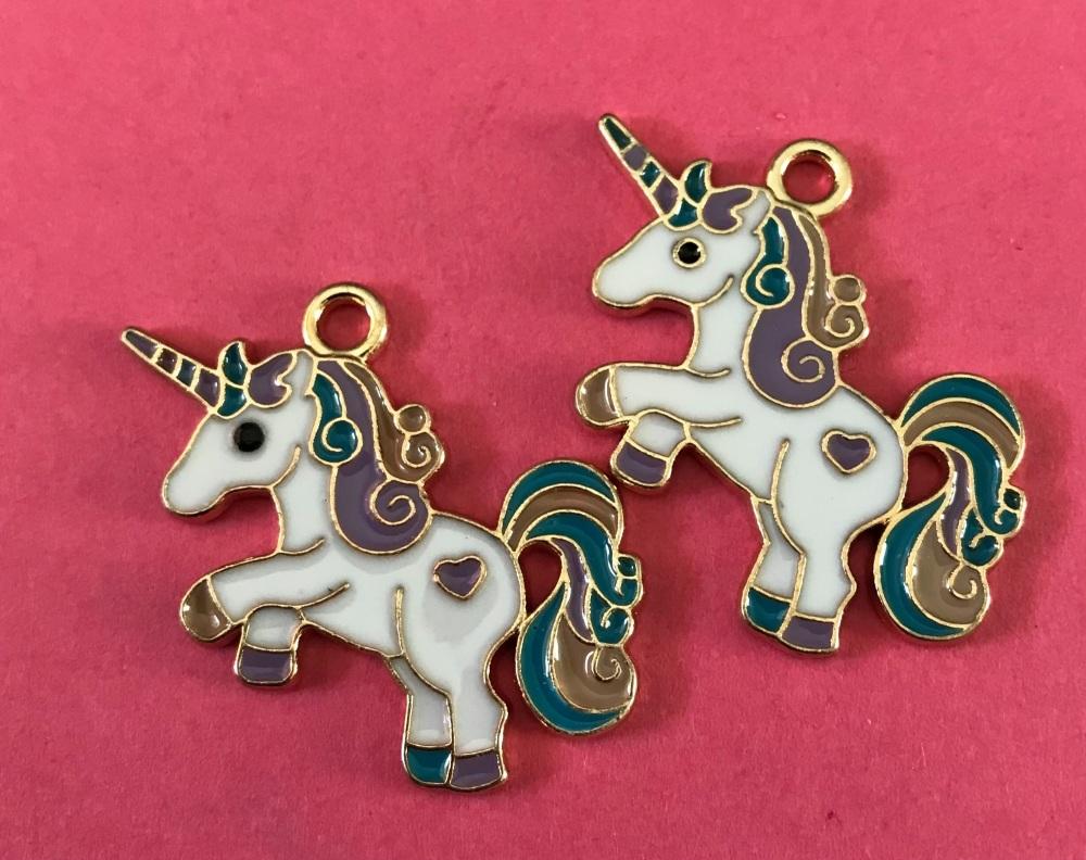 Unicorn Enamel Charm