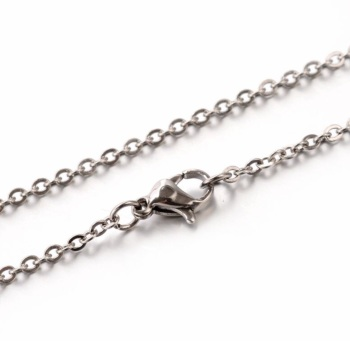 """20"""" Stainless Steel Cable Chain"""