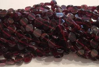 Garnet Oval Beads