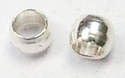 Pack of 100 Silver Plated Crimp Beads