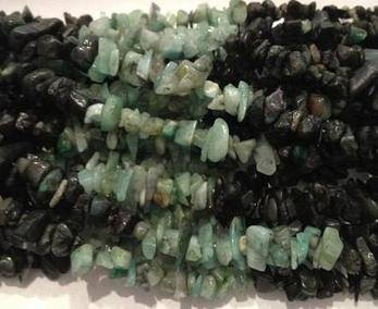 Emerald Nugget Bead Strand