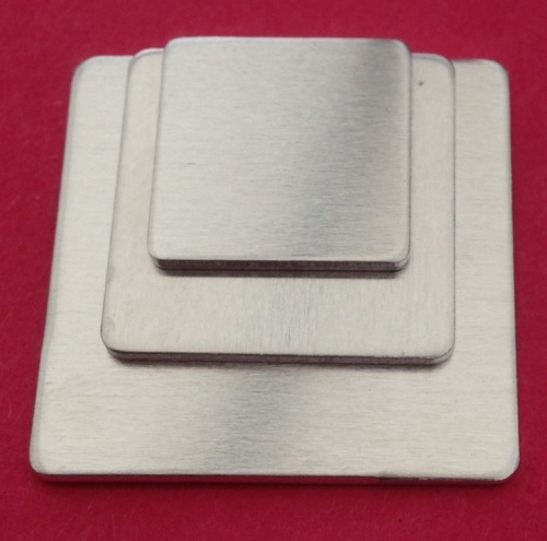 Aluminium Square Stamping Blanks - 20mm by 20mm