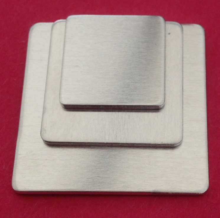 Aluminium Square Stamping Blanks - 15mm by 15mm