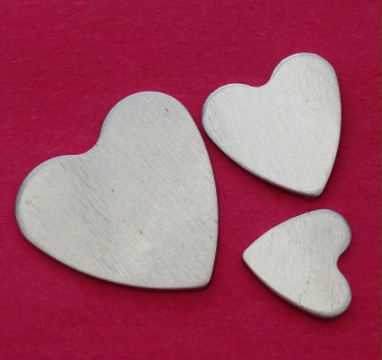 22mm Aluminium Heart Stamping Blank