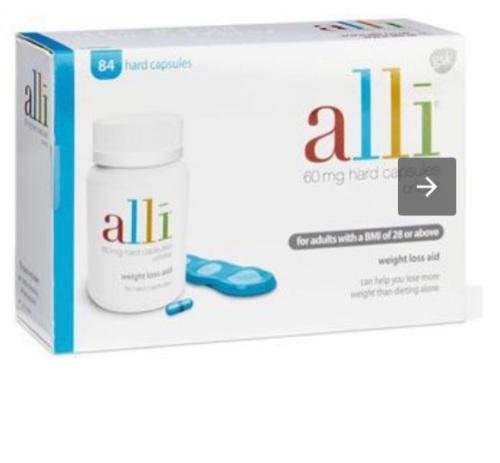 Alli weight loss pills.