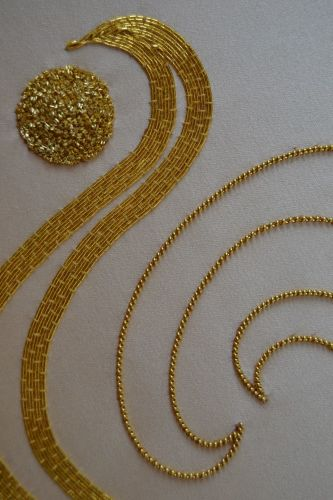 Beginners Goldwork detail