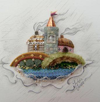Miniature Coastal Scene