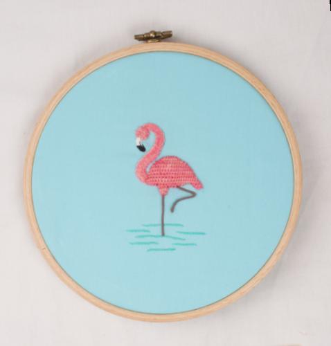 stumpwork-flamingo