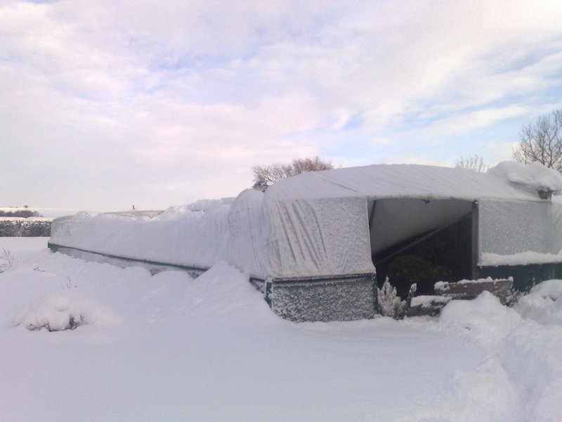 snow tunnels