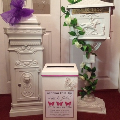 wedding post boxes for hire