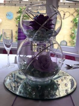 purple double fishbowl