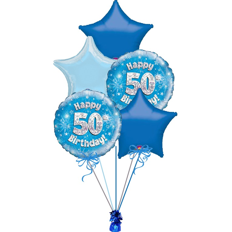 foil / latex age 50 clusters  £13.75