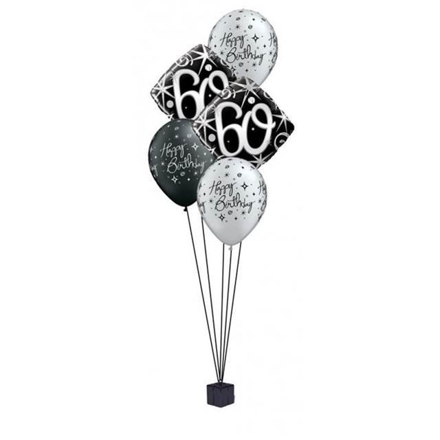 foil / latex clusters age 60  £13.75