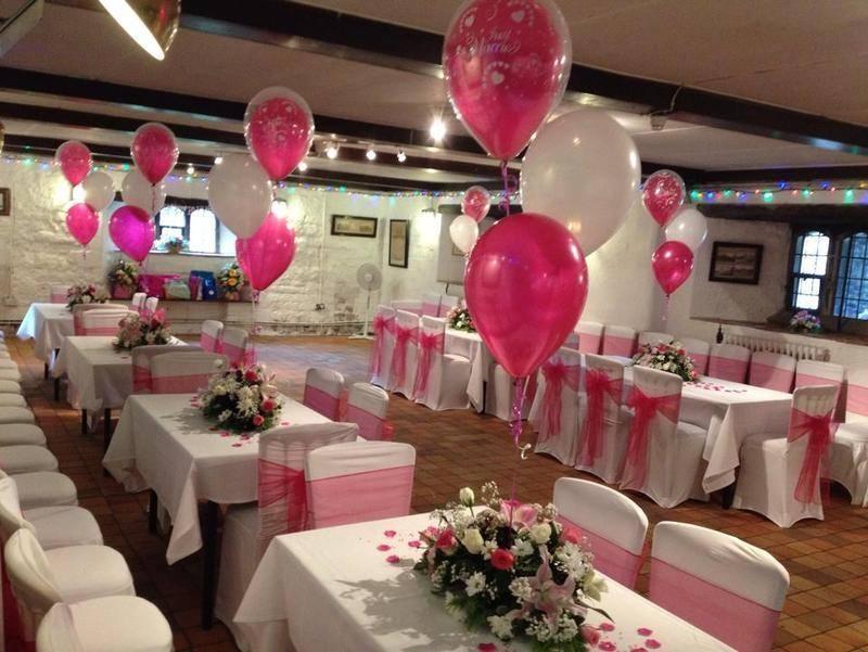 hot pink wedding set up