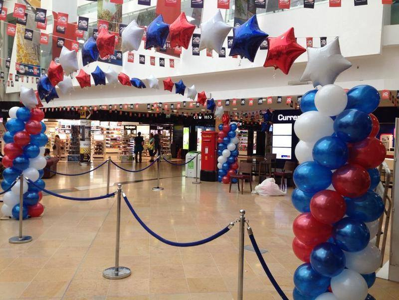 euro tunnel balloon arches