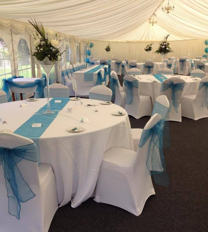 turquoise wedding set up 2014