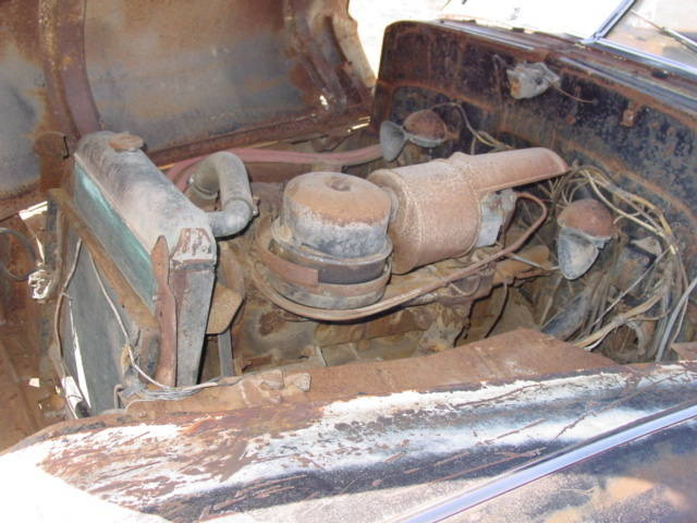 Engine bay before restoration