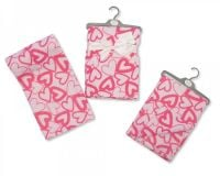 "BW785, ""Nursery Time"" brand cot blanket with ""Heart"" design £3.50. pk3..."