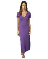 MN179PURPLE, Ladies long knitted nightdress £4.00.  pk6...