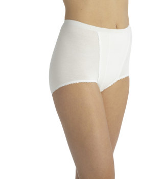 B311, Ladies Maxi Brief With Control Panel £1.45.  pk12..