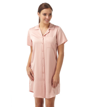 STMN126(14243), Ladies satin nightshirt in pink colour £3.00.  pk8...