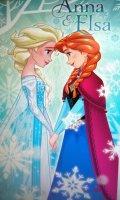 """AE1, Disney """"Frozen""""""""Anna & Elsa"""" towel £5.50.  pk6..."""