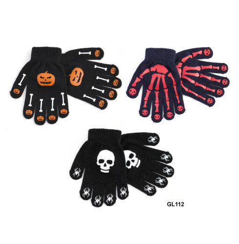 GL112, Kids magic gloves with design  as shown £0.46.  pk12..