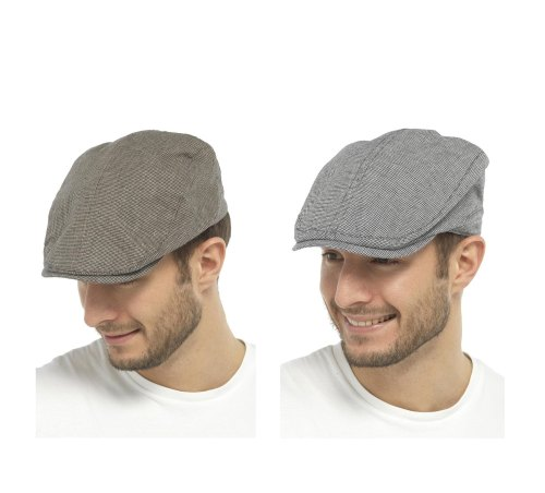 GL777, Mens small check flat cap £2.50.  pk12..
