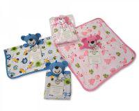 "*GP0669, ""Nursery Time"" brand Baby Comforter - Teddy £2.20+vat.  pk6..."