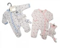 "*GP0664, ""Nursery Time"" brand baby all in one with comforter £4.20.  pk12.."