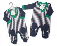 """BIS1669, """"Nursery Time"""" brand baby boys cotton all in one £4.25. pk12.."""