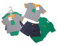 "BIS1678, ""Nursery Time"" brand baby boys cotton 3 piece set £6.90.  pk6.."