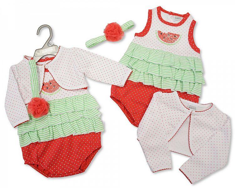 BIS1696, Baby Girls 3 pcs Cotton Set -