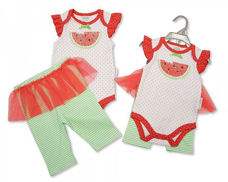 BIS1695, Baby Girls 2 pcs Cotton Set -