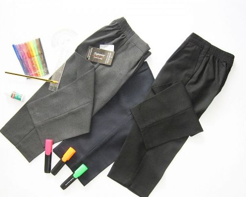 PU1065, Boys Pull On Trousers Without Zip £2.95.  pk6....