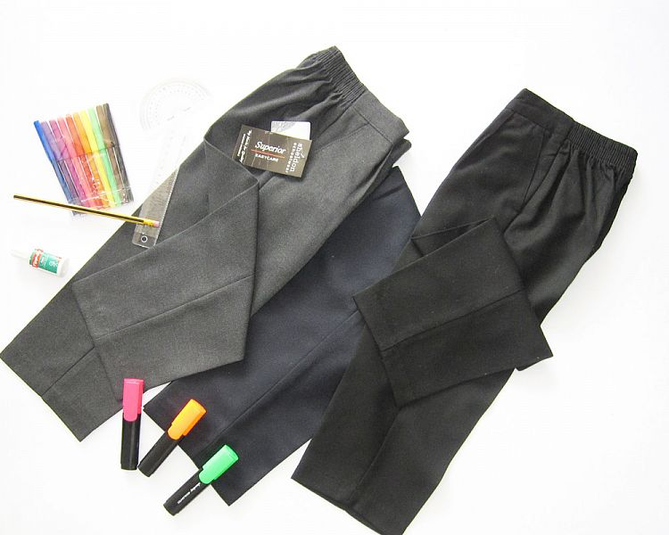 PU1065, Boys Pull On Trousers Without Zip £2.65.  pk6....