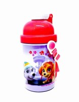 """*PWP883, Official """"Paw Patrol"""" Girls Pop Up Bottle (OUT OF STOCK) £1.25.  pk6..."""