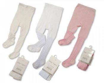 """GB1050, """"Nursery Time"""" brand baby lace tights £1.50.  pk6.."""
