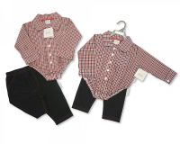 "*BIS1730, ""Nursery Time"" Brand Baby Boys 2 pcs Set ( Woven Body Vest, Trousers) £5.95.  pk6.."