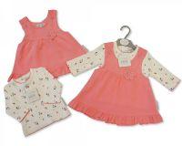 "*BIS1754, ""Nursery Time"" Brand Baby Girls 2 pcs Dress Set (OUT OF STOCK)  £6.20.  pk6.."