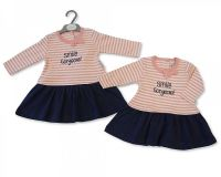 "*BIS1740, ""Nursery Time"" Brand Baby Girls Long Sleeved Dress - Gorgeous £4.50.  pk6.."
